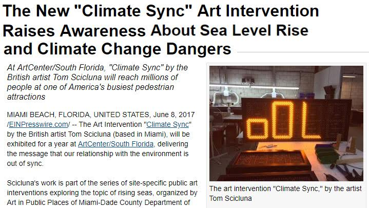 Climate Sync Art Intervention Raises Awareness About Sea Level Rise and Climate Change Dangers