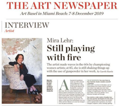 'Miami was a cultural desert in 1960': Mira Lehr on the city's transformation and her concerns for the environment