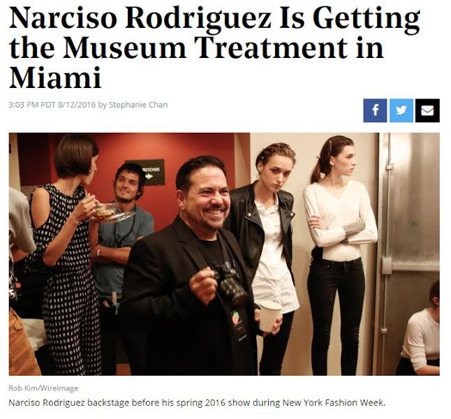 Narciso Rodriguez Is Getting the Museum Treatment in Miami